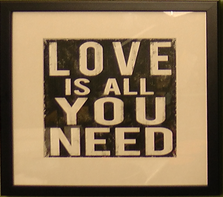 Love is all we need AG POG